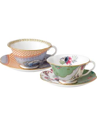 Butterfly Bloom Teaware Teacup & Saucer Set of 2