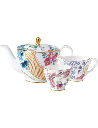 Butterfly Bloom Teaware Teapot/Sugar/Cream