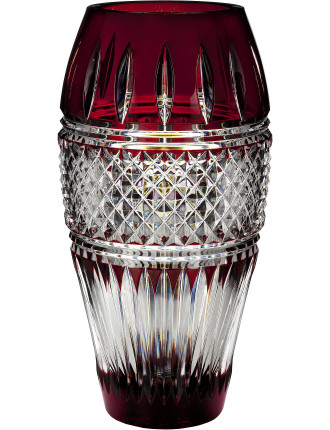 Waterford Irish Lace Ruby Vase 30cm