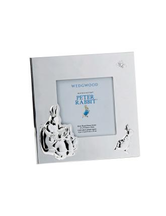 Peter Rabbit Silver Frame 3.5'X3.5'