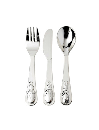 Peter Rabbit Silver Knife,Fork & Spoon