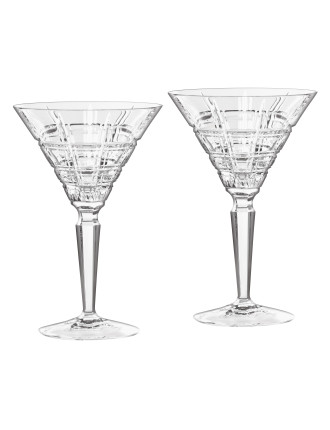 Marquis Crosby Barware Martini Pair