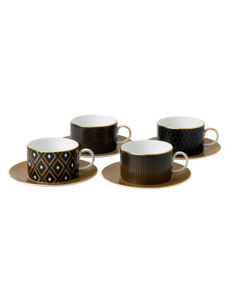 Ww Arris Dw Tea Cup and Saucer Acc X 4