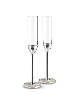 Vera Wang Wedgwood With Love Nouveau Pearl Toast Flute Pair