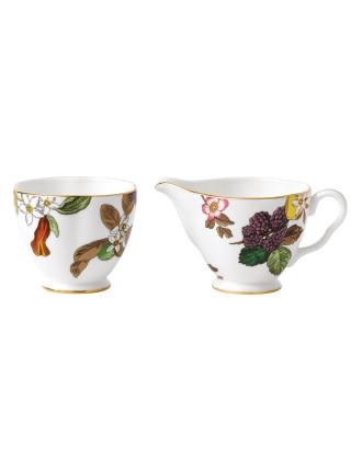 Tea Garden Sugar and Creamer