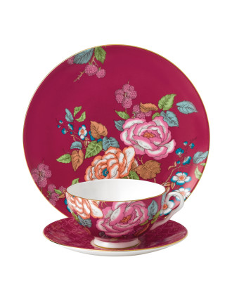 Tea Garden Raspberry 3 Piece Set