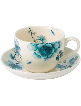 Blue Bird Teacup & Saucer