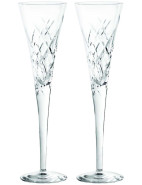 Vera Wang Duchesse Encore Crystal Clear Flutes Pair $99.95