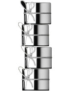 Vera Wang Love Knots Silver Set of 4 Napkin Rings $69.95