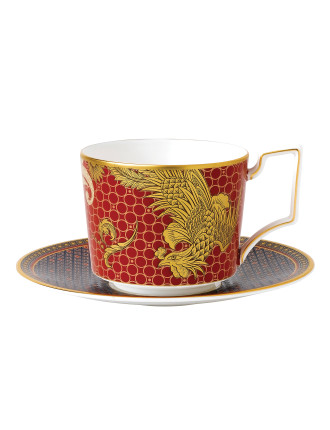 Imperial Red Teacup & Saucer