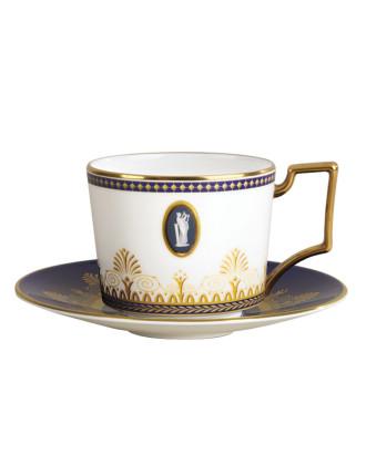 Anthemion Blue Teacup & Saucer