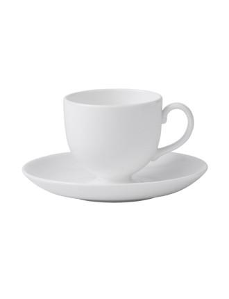 White China Tea Saucer