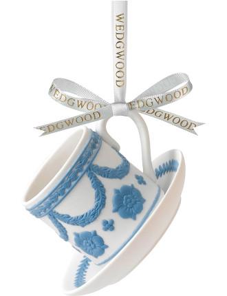 Christmas Ornament Icon Teacup & Saucer
