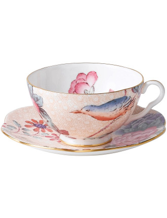 Cuckoo Peach Teacup and Saucer