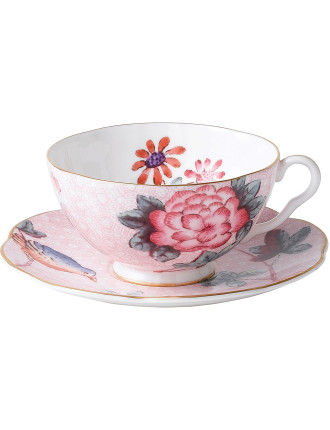 Cuckoo Pink Teacup and Saucer