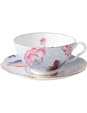 Cuckoo Blue Teacup and Saucer