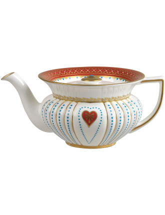 Queen Of Hearts Teapot