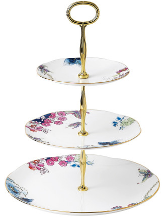 Butterfly Bloom 3 Tiered Cake Stand