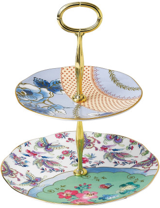 Butterfly Bloom Two Tiered Cake Stand