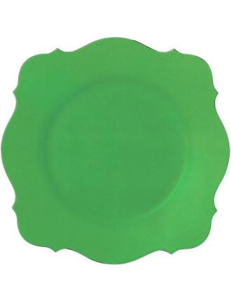 Jasper Conran Baroque Charger Green