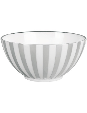 Jasper Conran Platinum Lined Bowl 14cm Striped