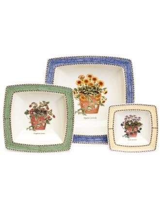Sarah's Garden Set Of 3 Sweet Dishes