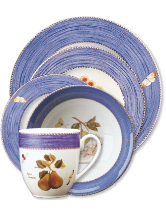 Sarah's Garden 5 Piece Place Setting Blue