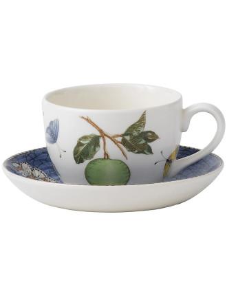 Sarah's Garden Tea Saucer Blue