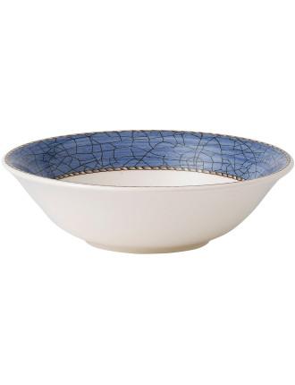 Sarah's Garden Cereal Bowl Blue