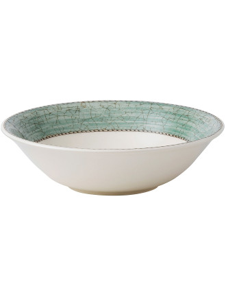 Sarah's Garden Cereal Bowl Green 18cm