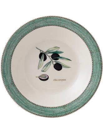 Sarah's Garden Pasta Bowl Green 28cm