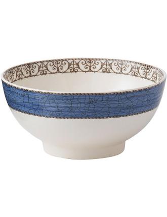 Sarah's Garden Salad Bowl 20cm Blue