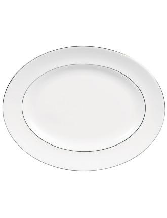 Vera Wang Wedgwood Blanc Sur Blanc Oval Dish 39cm