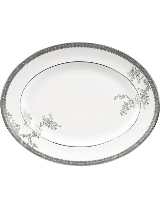 Vera Wang Wedgwood Lace Platinum Oval Dish 39cm