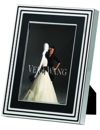 Vera Wang Wedgwood With Love Noir Silver Frame 4'X6'