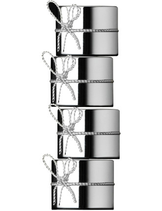 Vera Wang Love Knots Silver Set of 4 Napkin Rings