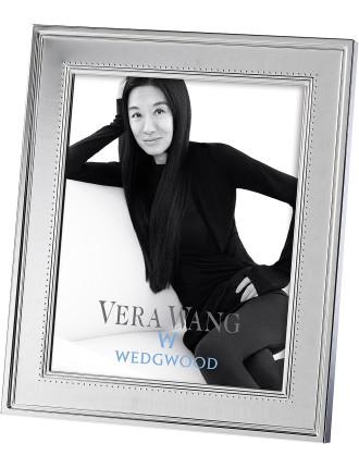 Vera Wang Wedgwood Grosgrain Silver Frame 8'X10'