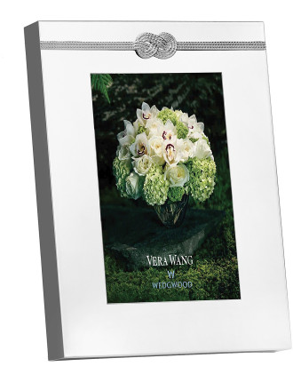 Vera Wang Wedgwood Infinity Silver Frame 4'X6'