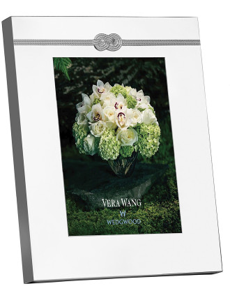 Vera Wang Wedgwood Infinity Silver Frame 5'X7'