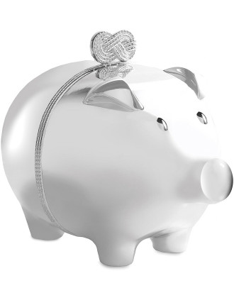 Vera Wang Wedgwood Infinity Silver Piggy Bank