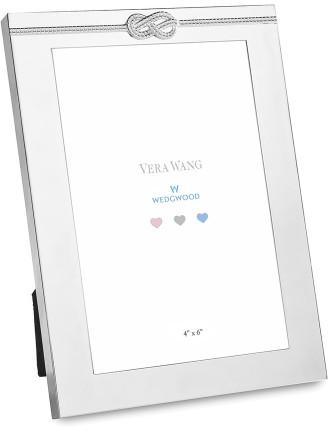 Vera Wang Wedgwood Infinity Silver Baby Frame 4'X6'