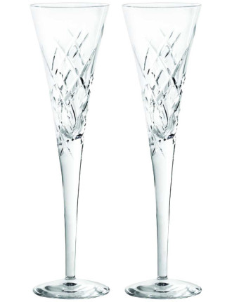 Vera Wang Duchesse Encore Crystal Clear Flutes Pair