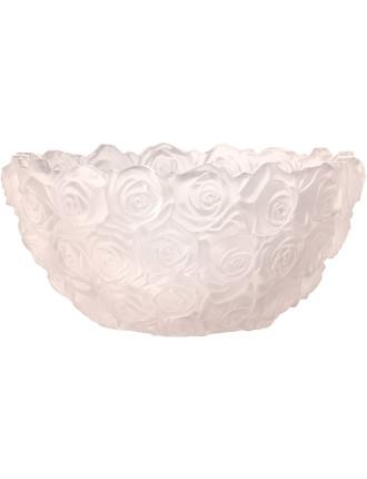 Monique Lhuillier Sunday Rose Blush Bowl Limited Edition