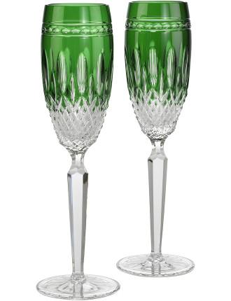 Clarendon Emerald Flute Pair