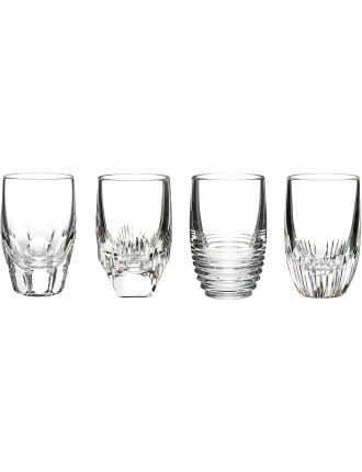 Mixology Mixed Shot Glasses X 4 Clear