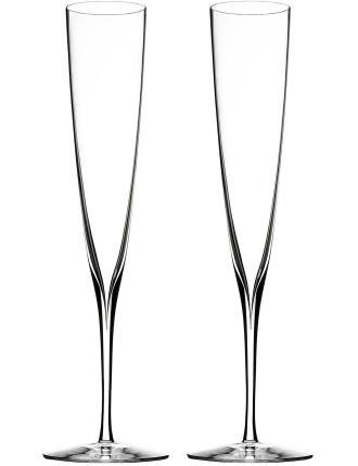 Elegance Champagne Trumpet Flute Pair