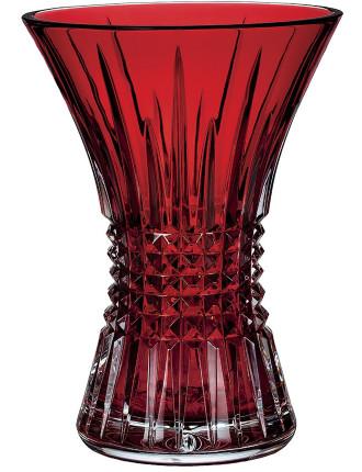 Lismore Diamond 20cm Vase Ruby