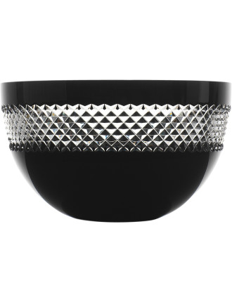 John Rocha Crystal Black Cut Giftware Bowl 20cm