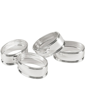 Lifestyle Windsor Napkin Rings Set of 4