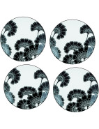 new york Japanese Floral Tidbit Plates (Set of 4) $99.00